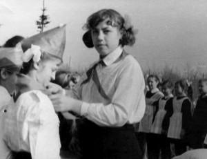 1969 год, линейка прием в пионеры