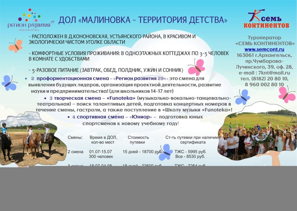 2. ДОЛ Малиновка - территория Детства