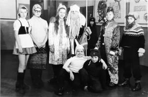 Новый 1990 год. Участники новогоднего спектакля