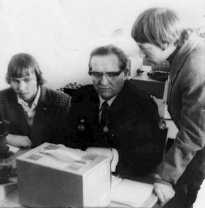 Потапов Иван Михайлович, учитель физики с учениками