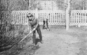 Пришкольный участок, 1966г